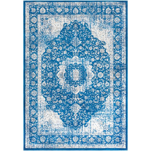 Surya Chelsea Updated Traditional Area Rug - 7-ft 10-in x 10-ft 3-in - Rectangular - Navy