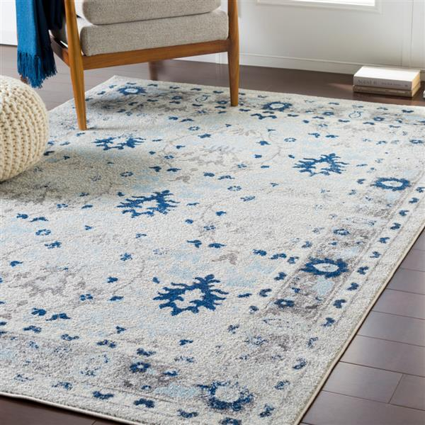 Surya Chelsea Updated Traditional Area Rug - 7-ft 10-in x 10-ft 3-in - Rectangular - Medium Gray