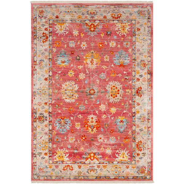 Surya Ephesians Updated Traditional Area Rug - 7-ft 10-in x 10-ft 3-in - Rectangular - Pink