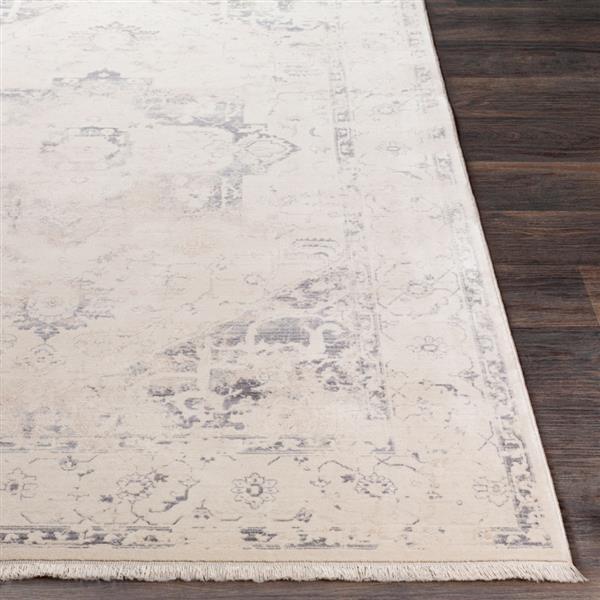 Surya Ephesians Updated Traditional Area Rug - 9-ft x 12-ft 10-in - Rectangular - Charcoal