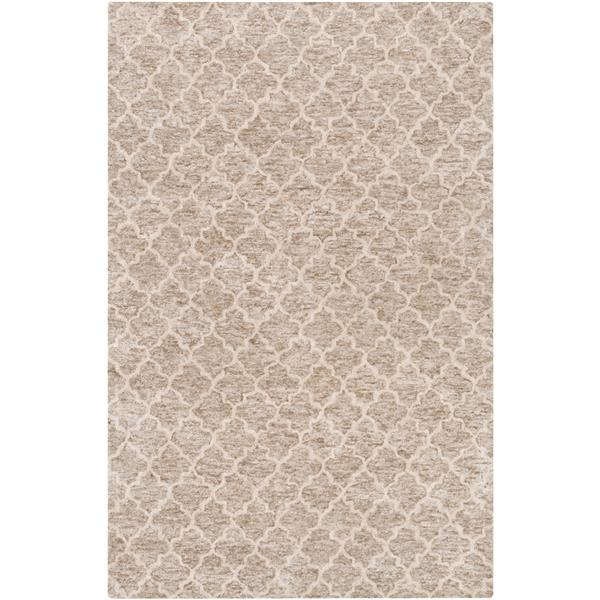 Surya Falcon Modern Area Rug - 5-ft x 7-ft 6-in - Rectangular - Taupe