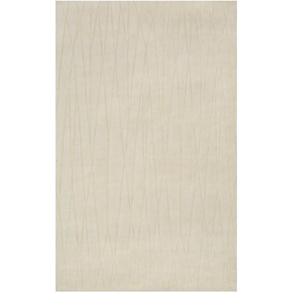 Surya Etching Solid Area Rug - 5-ft x 8-ft - Rectangular - Cream