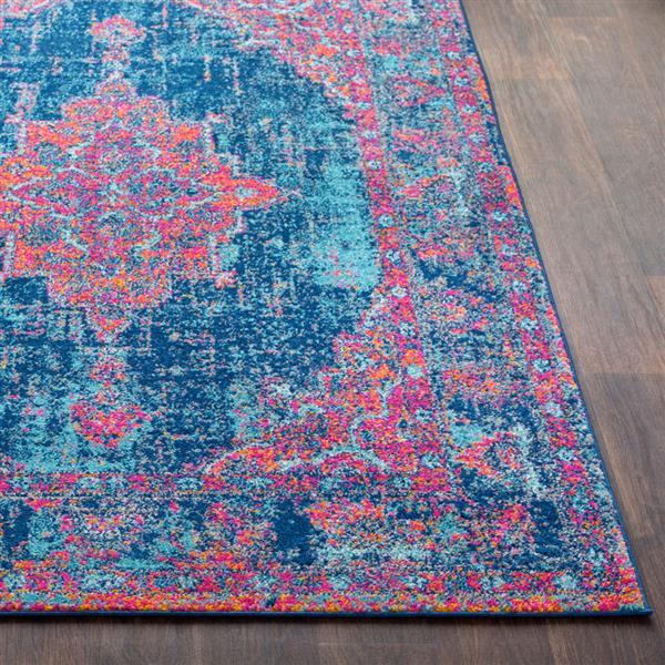 Surya Elaziz Updated Traditional Area Rug - 5-ft 3-in x 7-ft 6-in - Rectangular - Pink