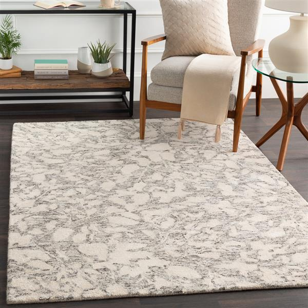 Surya Falcon Transitional Area Rug - 4-ft x 6-ft - Rectangular - Brown/Beige