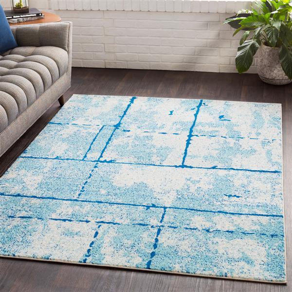 Surya Elaziz Modern Area Rug - 5-ft 3-in x 7-ft 6-in - Rectangular - Blue