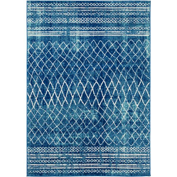 Surya Elaziz Transitional Area Rug - 5-ft 3-in x 7-ft 6-in - Rectangular - Navy