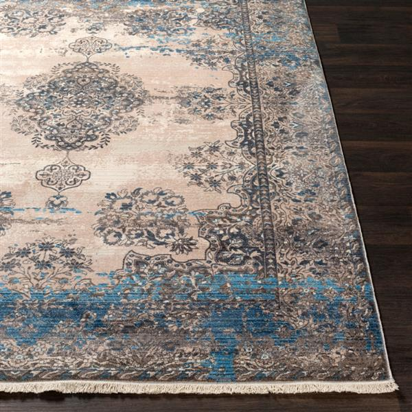 Surya Ephesians Updated Traditional Area Rug - 7-ft 10-in x 10-ft 3-in - Rectangular - Aqua