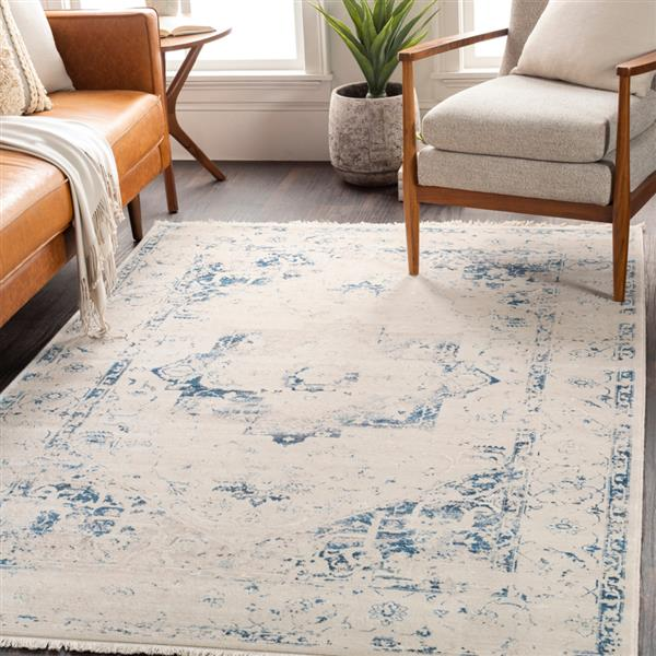 Surya Ephesians Updated Traditional Area Rug - 9-ft x 12-ft 10-in - Rectangular - Navy