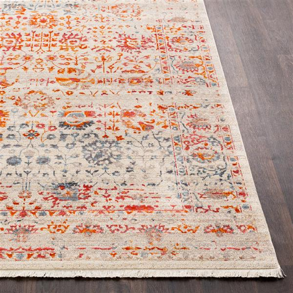Surya Ephesians Updated Traditional Area Rug - 3-ft 11-in x 5-ft 3-in - Rectangular - Cream/Orange