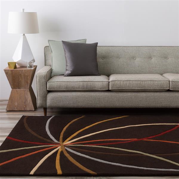Surya Forum Modern Area Rug - 7-ft 6-in x 9-ft 6-in - Rectangular - Dark Brown