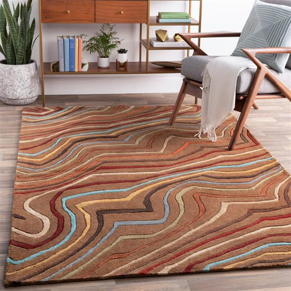Surya Forum Modern Area Rug - 9-ft 9-in - Square - Brown