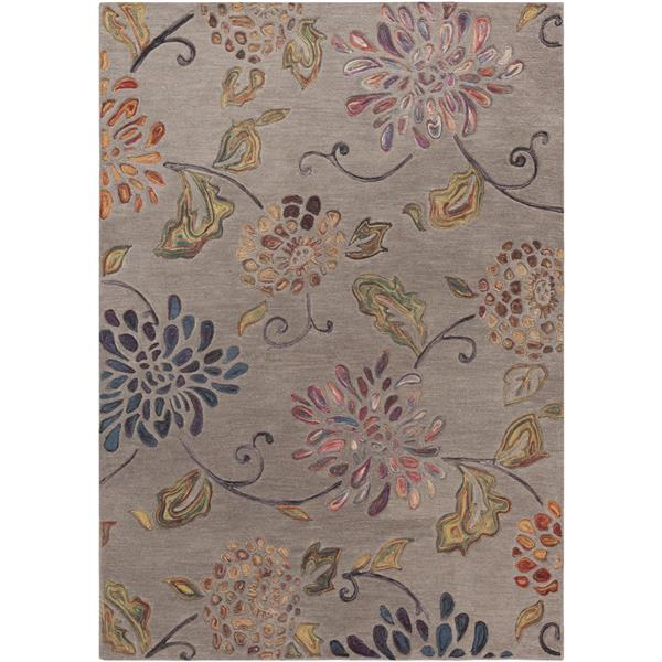 Surya Enchanted Transitional Area Rug - 9-ft x 13-ft - Rectangular - Tan