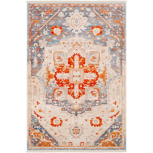Surya Ephesians Updated Traditional Area Rug - 3-ft 11-in x 5-ft 3-in - Rectangular - Orange