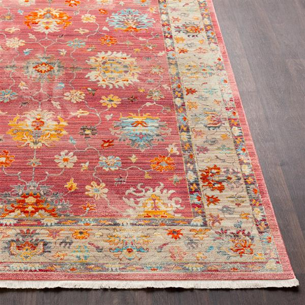 Surya Ephesians Updated Traditional Area Rug - 3-ft 11-in x 5-ft 3-in - Rectangular - Pink