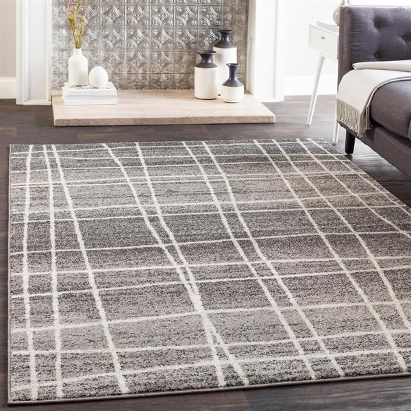 Surya Elaziz Modern Area Rug - 5-ft 3-in x 7-ft 6-in - Rectangular - Black