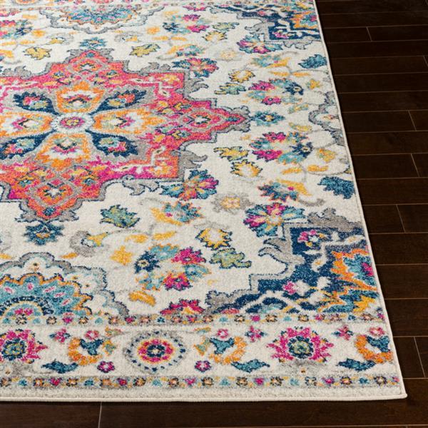 Surya Elaziz Updated Traditional Area Rug - 7-ft 10-in x 10-ft 3-in - Rectangular - Pink
