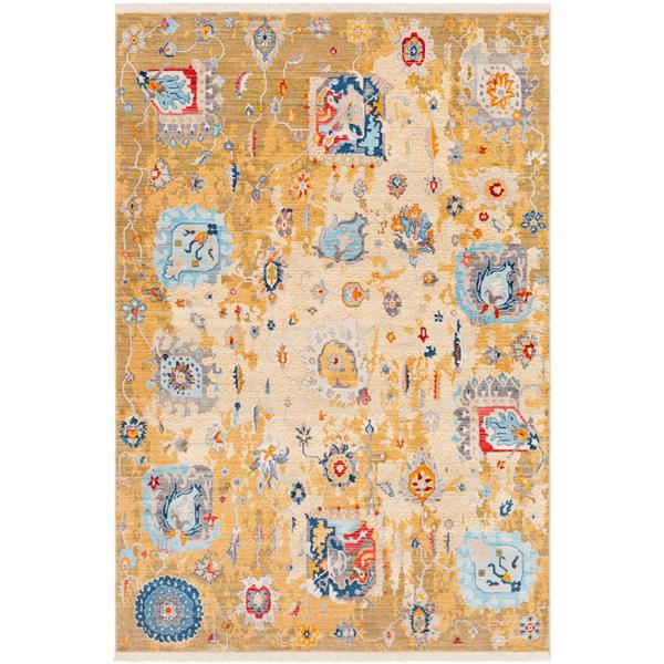 Surya Ephesians Updated Traditional Area Rug - 9-ft x 12-ft 10-in - Rectangular - Saffron