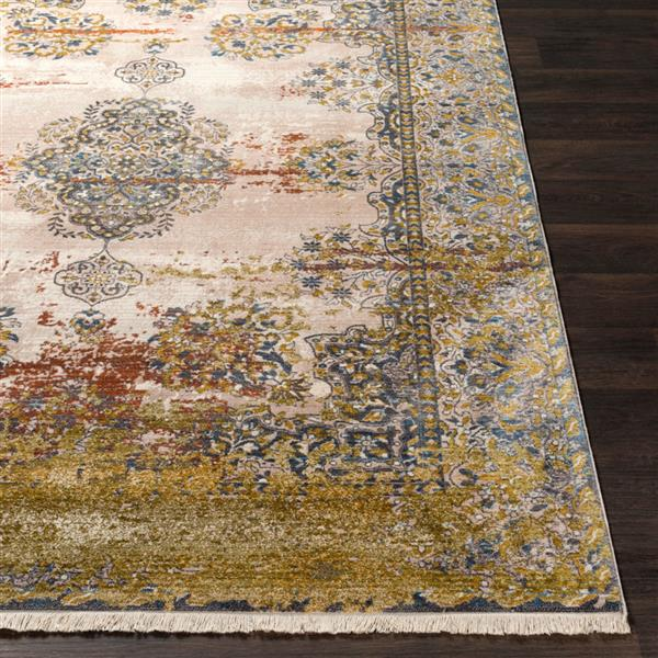 Surya Ephesians Updated Traditional Area Rug - 5-ft x 7-ft 9-in - Rectangular - Olive