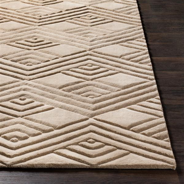 Surya Etching Solid Area Rug - 5-ft x 8-ft - Rectangular - Taupe