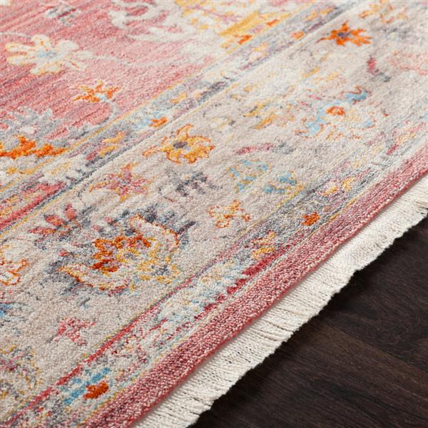 Surya Ephesians Updated Traditional Area Rug - 3-ft 11-in x 5-ft 7-in - Rectangular - Pink