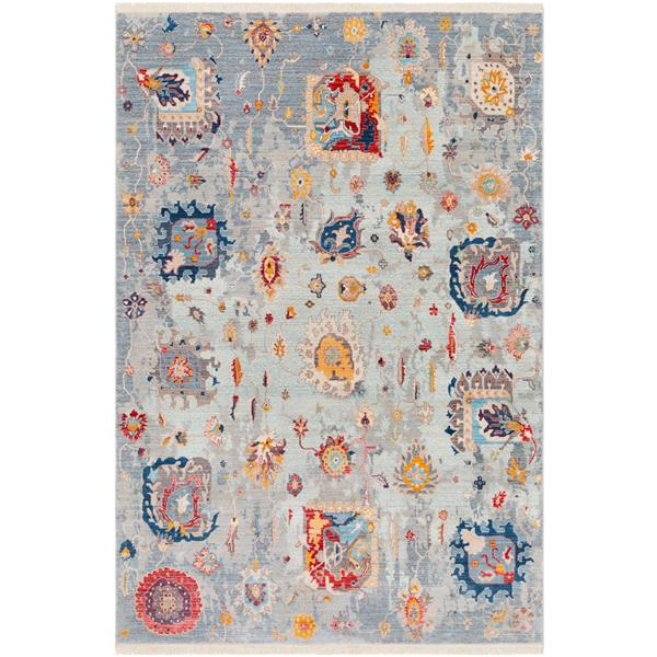 Surya Ephesians Updated Traditional Area Rug - 3-ft 11-in x 5-ft 3-in - Rectangular - Gray