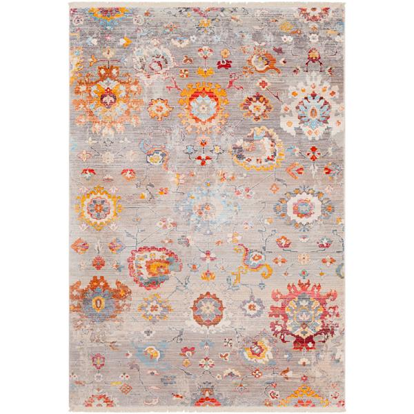 Surya Ephesians Updated Traditional Area Rug - 3-ft 11-in x 5-ft 7-in - Rectangular - Silver