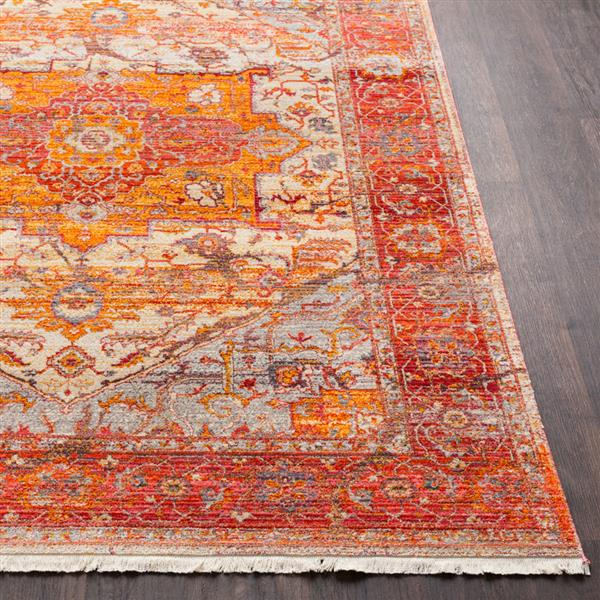 Surya Ephesians Updated Traditional Area Rug - 5-ft x 7-ft 9-in - Rectangular - Red/Orange