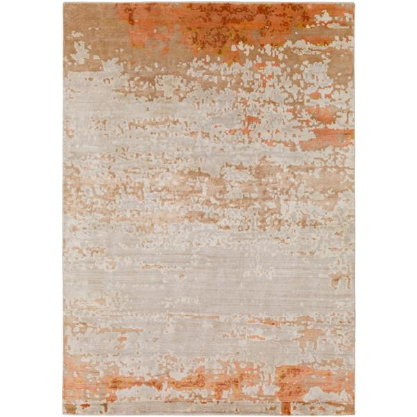 Surya Ephemeral Modern Area Rug - 2-ft x 3-ft - Rectangular - Burnt Orange