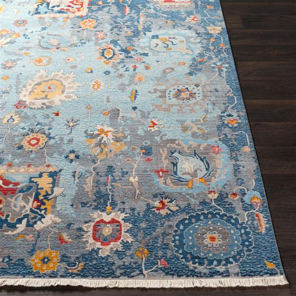 Surya Ephesians Updated Traditional Area Rug - 5-ft x 7-ft 9-in - Rectangular - Blue