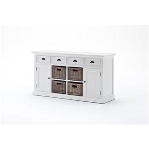 NovaSolo Halifax Buffet with 4 Basket set - White