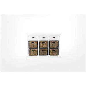 NovaSolo Halifax Buffet with 6 Baskets - White