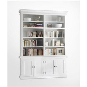 NovaSolo Halifax Double - Bay Hutch Unit - White