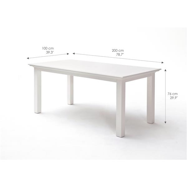 NovaSolo Halifax Rectangular Dining Table - 79-in - White
