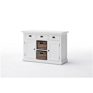NovaSolo Halifax Buffet with 2 baskets - White