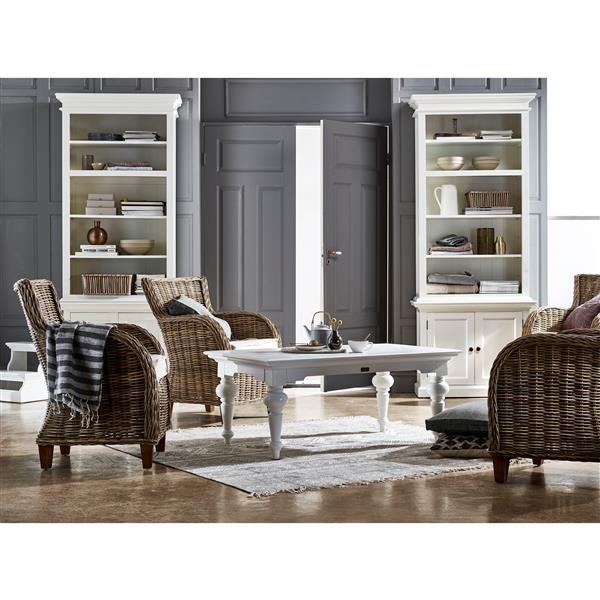 NovaSolo Wickerworks Baron Chair with Seat Cushion