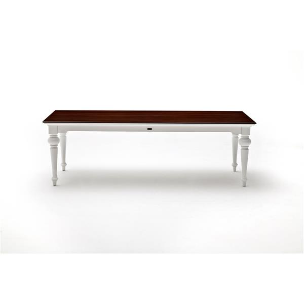 NovaSolo Provence Accent 240 Dining Table - White/Mahogany