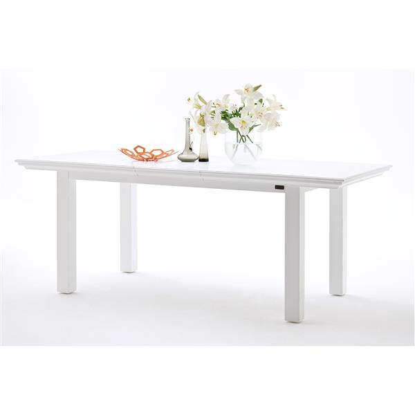 NovaSolo Halifax Extension Dining Table - 79-in - White