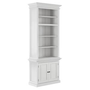 NovaSolo Halifax Single - Bay Hutch Unit - White