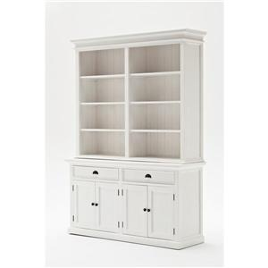 NovaSolo Halifax Hutch Bookcase Unit - White