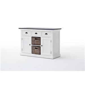 NovaSolo Halifax Contrast Buffet with 2 baskets -  White/Mahogany