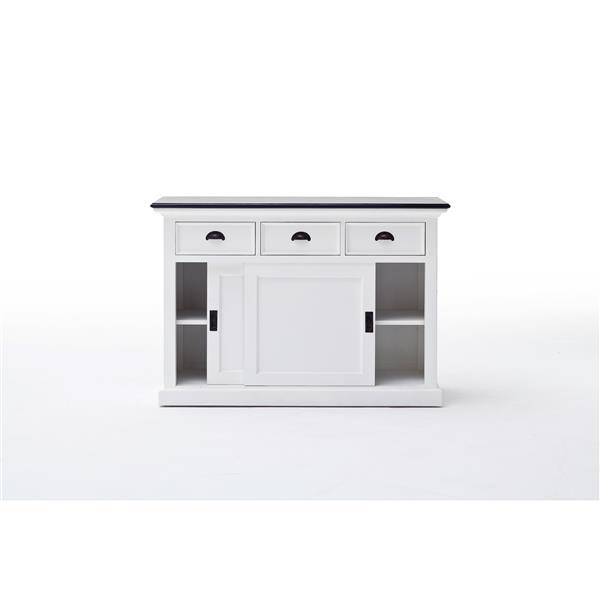 NovaSolo Halifax Contrast Buffet with sliding doors -  White/Mahogany
