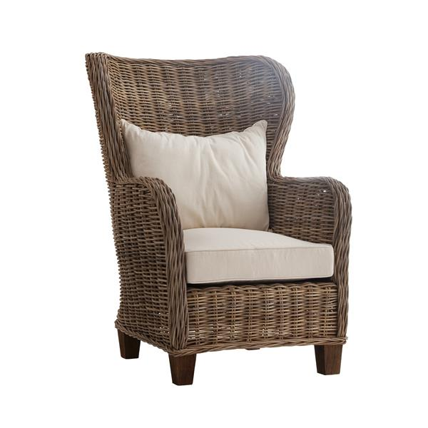 NovaSolo Wickerworks King Chair with seat & back cushions