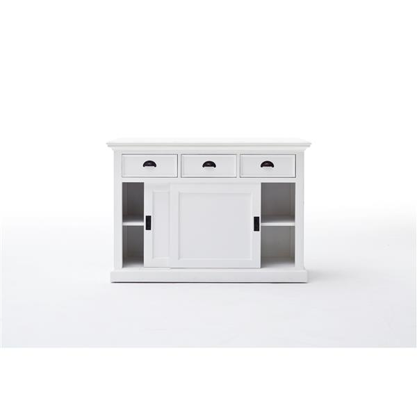 NovaSolo Halifax Buffet with Sliding Doors - White