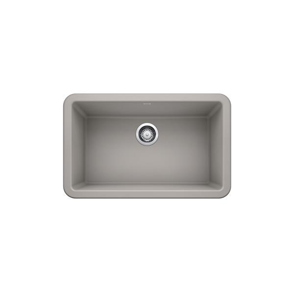 Blanco Ikon Single Bowl Farmhouse Sink - 30 - Concrete Gray