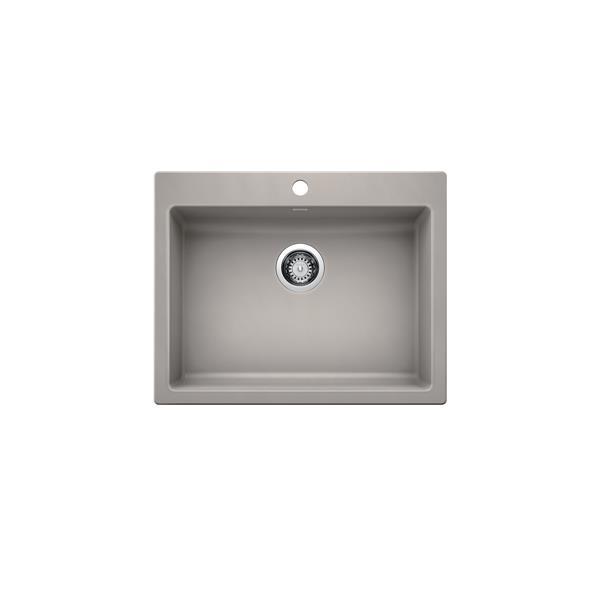 Blanco Precis Single ADA Dual-Mount - Concrete Grey