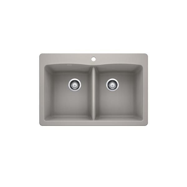 Blanco Diamond Drop-in Sink - Concrete Grey