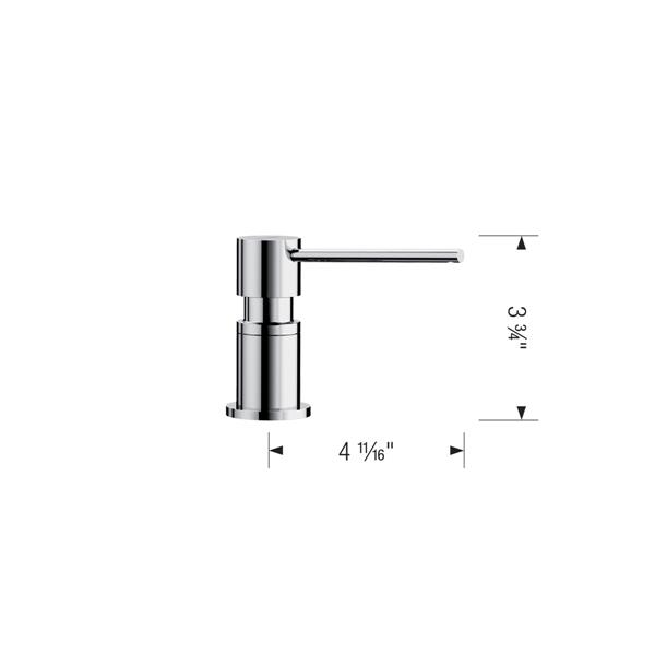 Blanco Lato Soap Dispenser - Chrome/Café