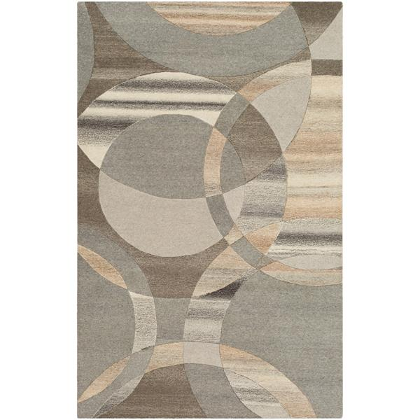 Surya Forum Modern Area Rug - 4-ft x 6-ft - Rectangular - Gray
