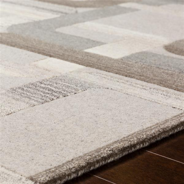 Surya Forum Modern Area Rug - 7-ft 6-in x 9-ft 6-in - Rectangular - Taupe