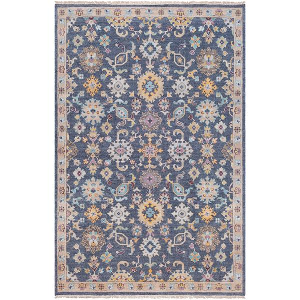 Surya Gorgeous Updated Traditional Area Rug - 6-ft x 9-ft - Rectangular - Navy